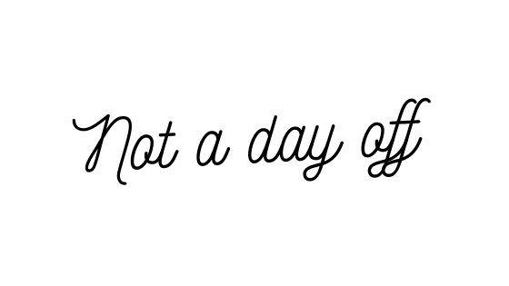 A day off sick is not a dayoff.